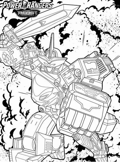 Rangers Beast Morphers Power Megazord Coloring Pages