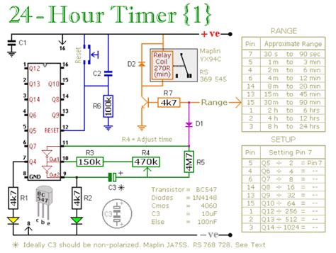Hour Timer Circuit Timing Electronic Tutorial