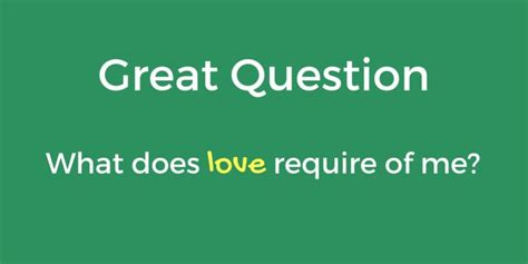 MarkHowellLive.com | Great Question: What Does Love Require of Me?