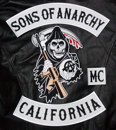 sons of anarchy patches sons of anarchy 8 pc back patch set jacket vest patch on