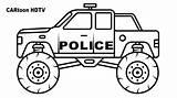 Coloring Monster Truck Police Vehicles Colors Sketch Preschool Albanysinsanity Marvelous Creative sketch template