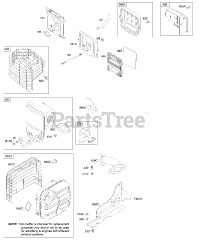 204412 Engine Diagram by Briggs Stratton 204412 0114 E1 Briggs Stratton