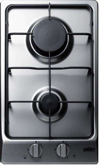 summit gcss   gas cooktop   sealed sabaf burners stainless steel surface