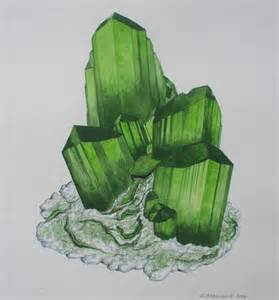 Rocks and Minerals Drawings