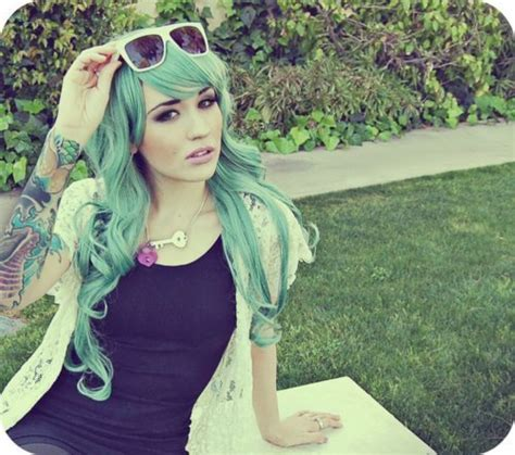 Girl Green Hair Lace Scene Shades Image 364959 On