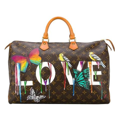 customised louis vuitton vintage dripping love bag  sale  stdibs