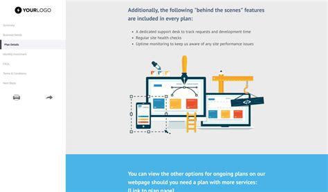free website support and maintenance template better proposals