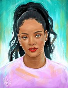 Rihanna by LaurenceAndrewPage on DeviantArt
