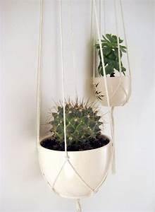 Pflanzen Zum Aufhängen : minimalist plant hangers no beads set of 2 x cotton ~ Michelbontemps.com Haus und Dekorationen