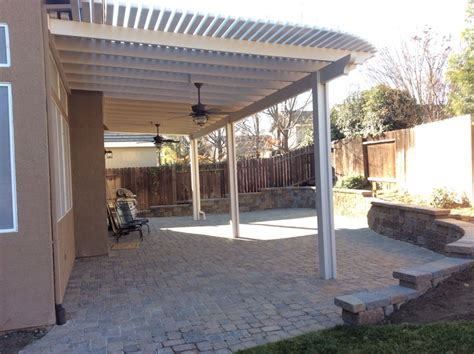 don s awnings patio cover with outdoor fans on paver