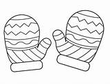 Coloring Mittens Mitten Template Printable Winter Drawing Pattern Colouring Sheets Rukavice Snowman Preschool Hat Clipart Crafts Hats Craft Chocolate Sheet sketch template