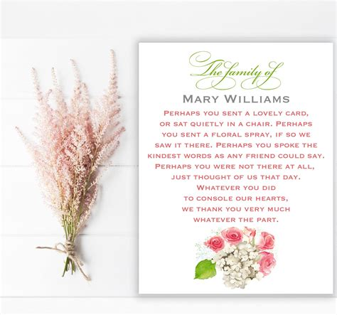 sympathy acknowledgement cards funeral