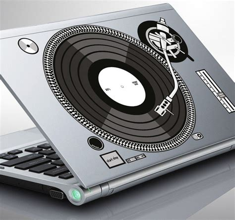 Ideas For Kitchen Colours - laptop sticker of a djs turntable tenstickers