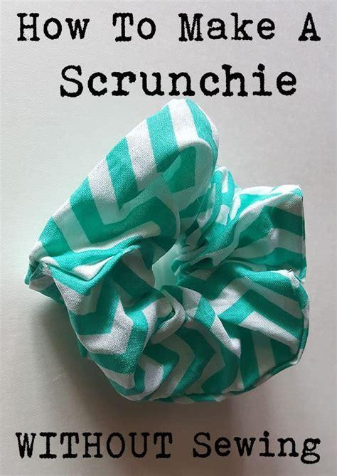 scrunchie  sewing diy hair