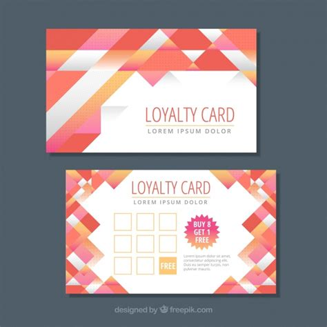 loyalty card template  abstract design vector