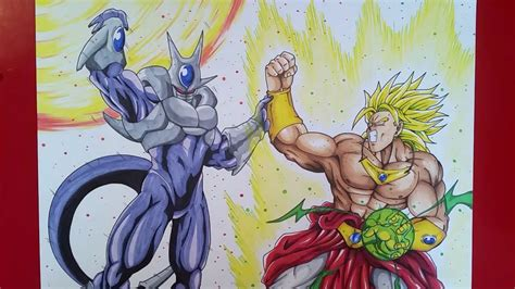drawing cooler  broly dragonball  tolgart youtube