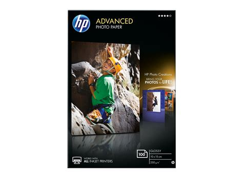 hp advanced fotopapier glaenzend  blatt   cm