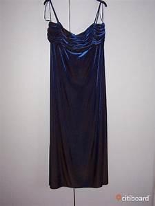 Sammetsklänning blå