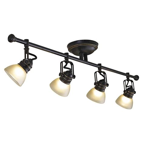 lowes kitchen track lighting shop allen roth tucana 4 light 34 75 in oil rubbed