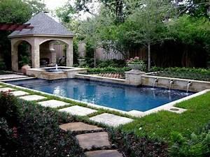 1374 best du jardin au paysage images on pinterest With idee amenagement jardin paysager 4 amenagement paysager autour dune piscine classique