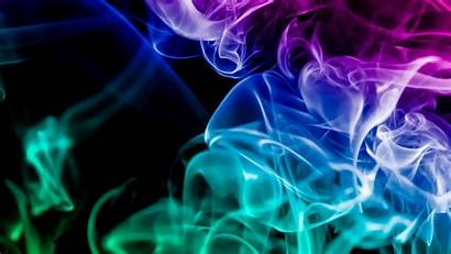 Smoke Colorful Colored Rainbow Dark Widescreen Monitor