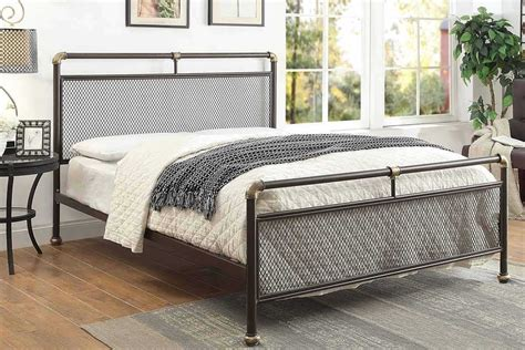 cambridge industrial scaffold style pipe metal bed frame