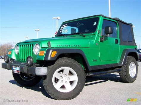 green jeep 2004 electric lime green pearl jeep wrangler rubicon 4x4