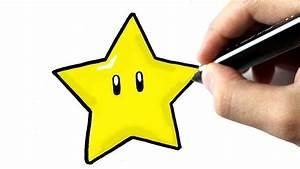 Comment Faire Une Etoile : comment dessiner l 39 etoile de mario youtube ~ Nature-et-papiers.com Idées de Décoration