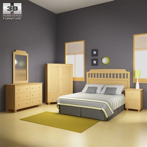 bedroom furniture  set  model furniture  humd