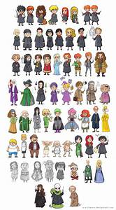 Harry Potter - Characters by batteryfish on DeviantArt