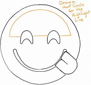 How to Draw Smiling Emoji with Tongue Sticking Out ...