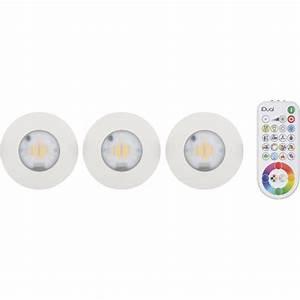 elegant kit spots encastrer salle de bains idual fixe led With carrelage adhesif salle de bain avec spot encastrable extra plat led