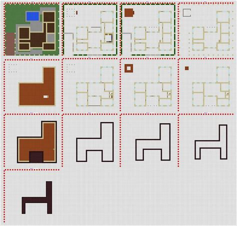 minecraft small house floor plans minecraft modern house blueprints layer by layer