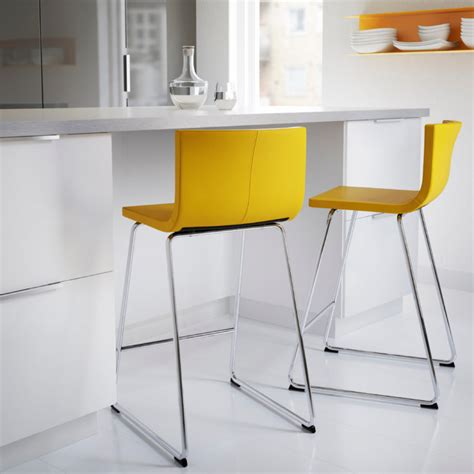 chaise moutarde furniture yellow leather kitchen bar stool with backrest