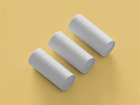 Deodorant cosmetic bottle isolated mockup 3d rendering. Free Paper Tube Packaging Mockup | Free Mockup