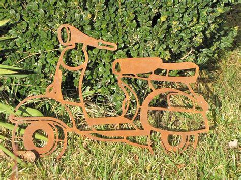 garten deko roller edelrost wandbild roller metall gartendeko wanddeko
