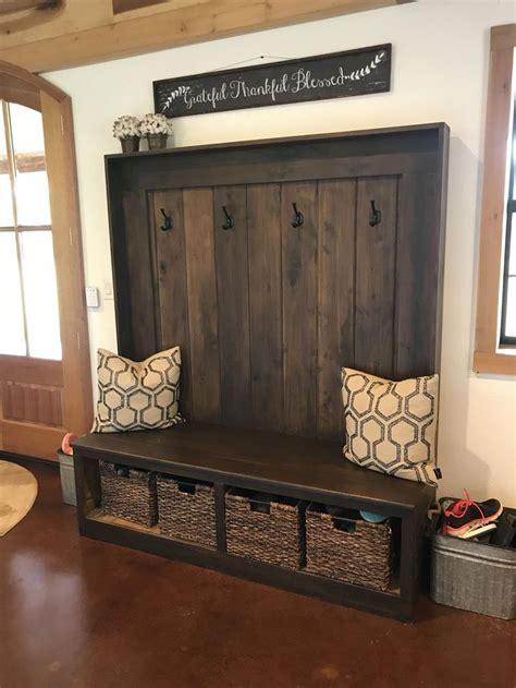 custom built ft poplar hall tree remodelbasement home