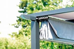 Pergola Mit Schiebedach : pergola con struttura in ferro epoxy antracite 73x73 mm e travi in alluminio 50x31 mm con ~ Orissabook.com Haus und Dekorationen