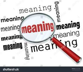 meaning word a magnifying glass to illustrate looking for searching and finding a