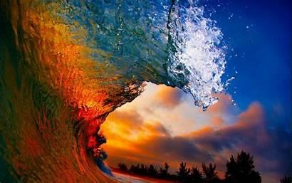 Waves Sunset Beach Water Landscape Nature Coast