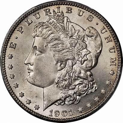 Dollar Silver 1901 Morgan Value Coins Rare