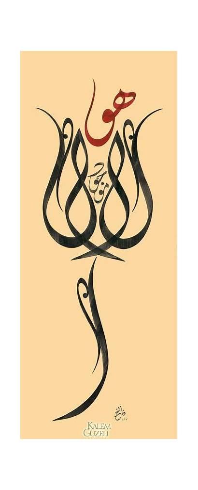 Calligraphy Arabic Islamic Calligraphie Turkish Rose Writing