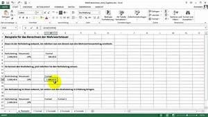 Mehrwertsteuer Berechnen Excel : excel tipps zur berechnung der mehrwertsteuer brutto und netto 1 youtube ~ Themetempest.com Abrechnung
