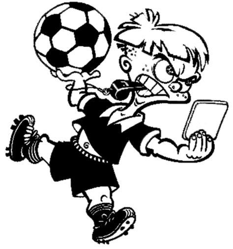 disegni di calcio da colorare disegno di arbitro di calcio da colorare per bambini