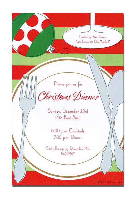 free christmas dinner invitations christmas dinner invitation card design idea with dining