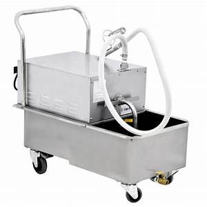 110 Lb     50 Liter Portable Fryer Oil Filtration Machine
