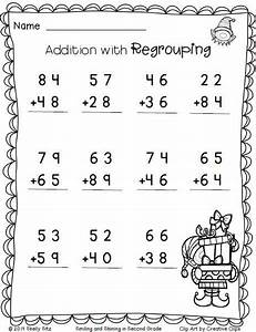 Christmas Math--Addition with regrouping -FREE--2nd grade ...