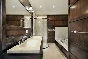 26, Beautiful, Wood, Master, Bathroom, Designs