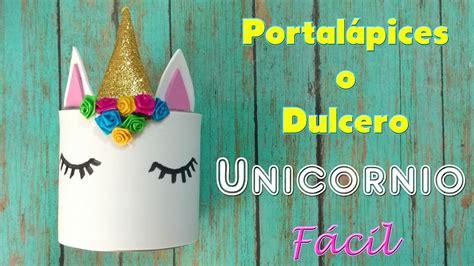 tutorial unicornio kawaii portalapices  dulcero foami goma eva ideas  fiestas youtube