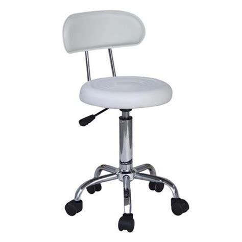 tabouret de bureau roulettes tabouret à roulettes de travail blanc myco00572 achat